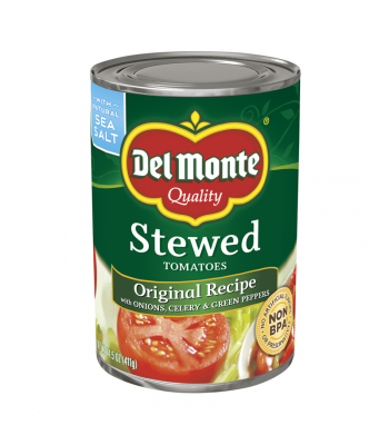 Del Monte Diced Tomatoes w/ Basil, Garlic & Oregano (No Added Salt) - 14.5oz (411g) Food and Groceries
