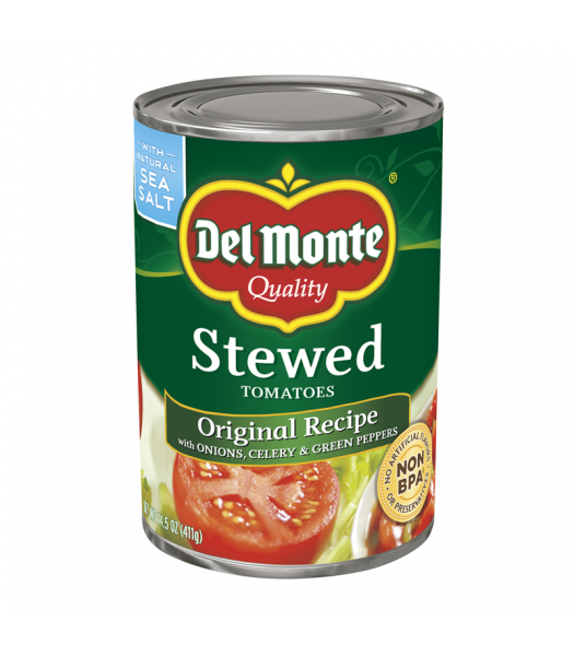 Del Monte Stewed Tomatoes 14.5oz (411g) Tinned Groceries