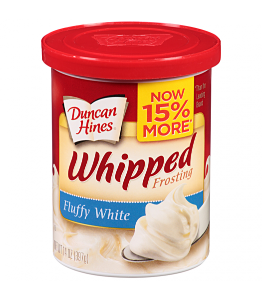 Duncan Hines Whipped Fluffy White Frosting 14oz (397g) Baking & Cooking Duncan Hines