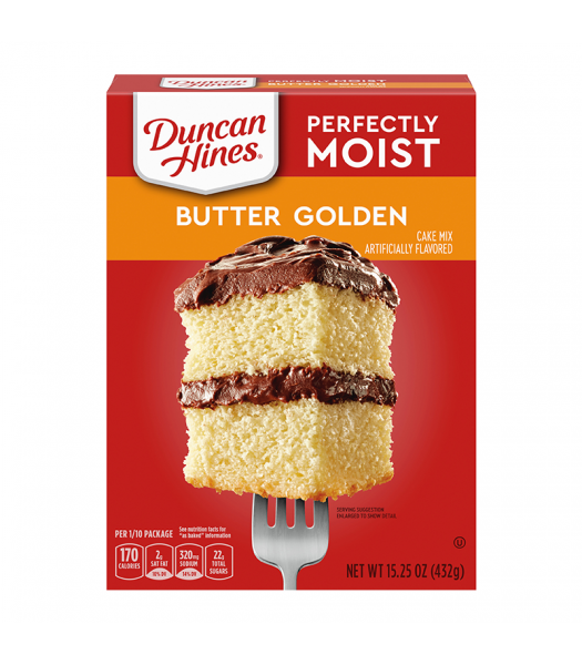 Duncan Hines Perfectly Moist Butter Golden Cake Mix - 15.25oz (432g) Food and Groceries Duncan Hines