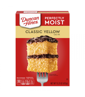 Clearance Special - Duncan Hines Perfectly Moist Classic Yellow Cake Mix - 15.25oz (432g) **Best Before: Slight Damage**