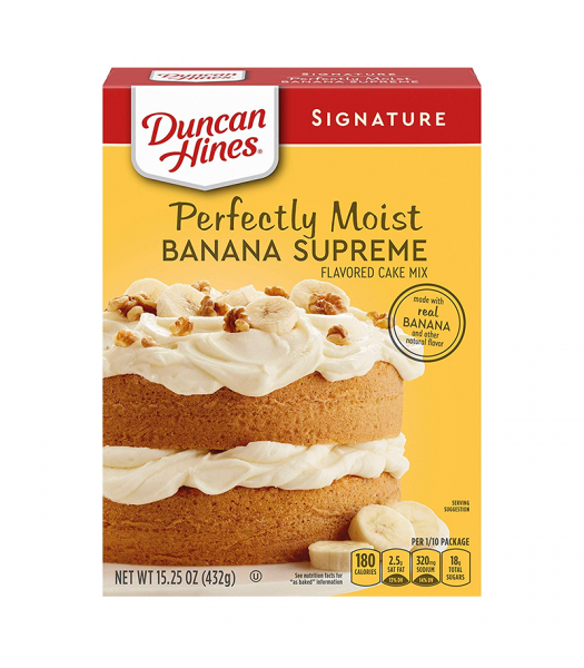 Duncan Hines Signature Perfectly Moist Banana Supreme Cake Mix - 15.25oz (432g) Food and Groceries Duncan Hines