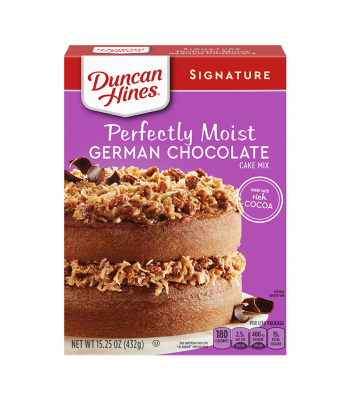 Duncan Hines Signature Perfectly Moist German Chocolate Cake Mix - 15.25oz (432g) Food and Groceries Duncan Hines