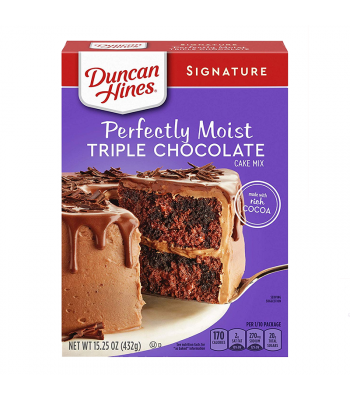Duncan Hines Signature Perfectly Moist Triple Chocolate Cake Mix - 15.25oz (432g) Food and Groceries Duncan Hines