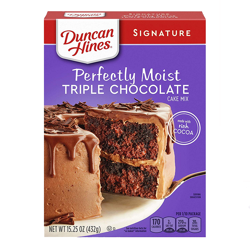 Duncan Hines Signature Perfectly Moist Triple Chocolate ...