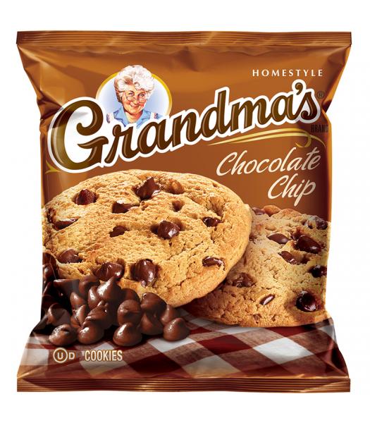 Grandmas Cookies Chocolate Chip - 2.5oz (71g) Cookies & Biscuits Grandma's Cookies