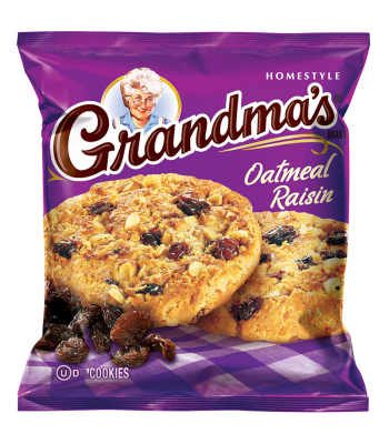 Grandmas Cookies Oatmeal & Raisin - 2.5oz (71g) Cookies & Biscuits Grandma's Cookies
