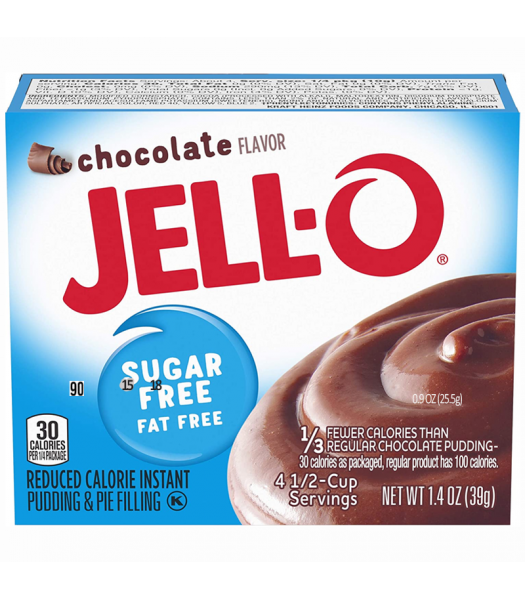 Jell-O - Chocolate Instant Pudding - Sugar Free - 1.4oz (40g) Food and Groceries Jell-O