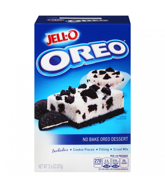 Jell-O - No Bake Dessert Oreo Cookies n Crème - 12.6oz (357g) Jelly & Puddings Jell-O