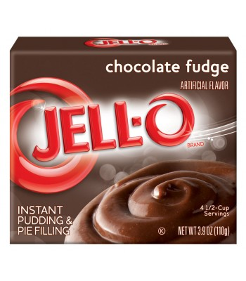 Jell-O - Chocolate Fudge Instant Pudding - 3.9oz (110g) Jelly & Puddings Jell-O