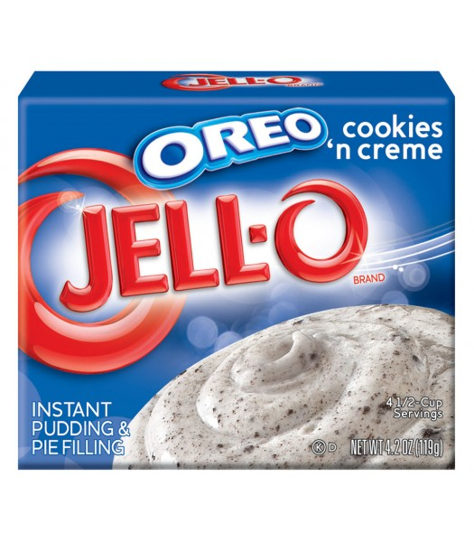 Jell-O Oreo Cookies and Creme Dessert 4.2oz (119g) Jelly & Puddings Jell-O