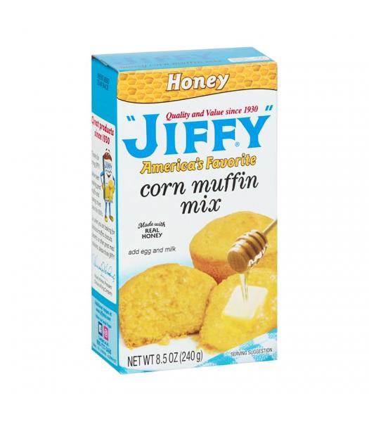 Jiffy Honey Corn Muffin Mix - 8.5oz (240g) Food and Groceries Jiffy