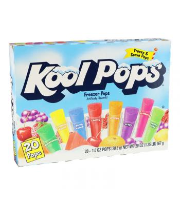 Kool Pops Assorted Freezer Bars 1oz (28g) 20-Pack Food and Groceries