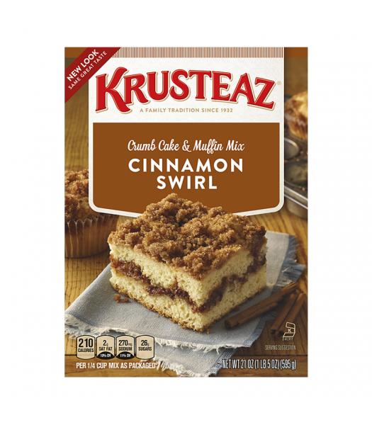 Krusteaz Cinnamon Swirl Crumb Cake 21oz (595g) Food and Groceries Krusteaz
