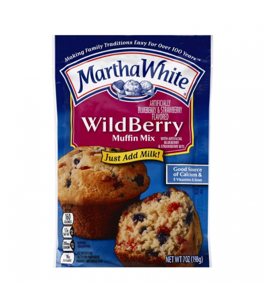 Martha White Wildberry Muffin Mix - 7oz (198g) Food and Groceries
