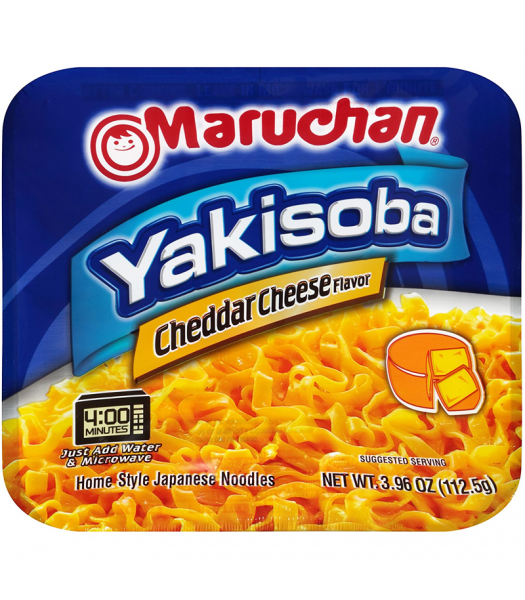Maruchan - Cheddar Cheese Flavour Yakisoba Noodles - 4oz (113g) Food and Groceries Maruchan
