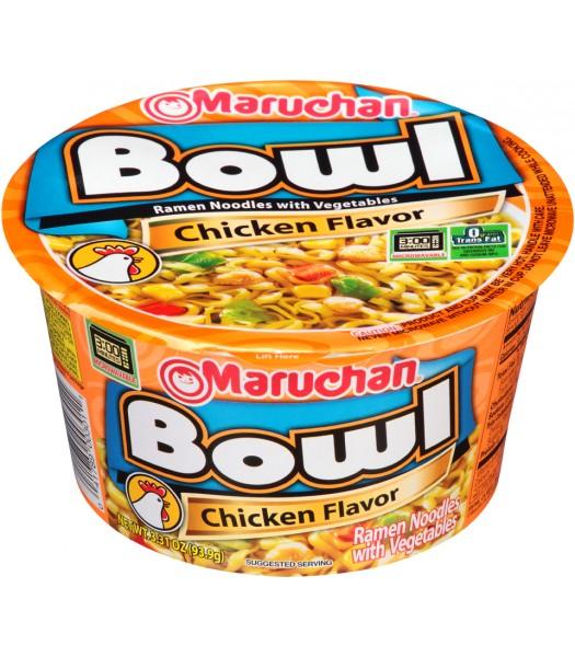 Maruchan - Chicken Flavor - Ramen Noodles & Vegetables Bowl - 3.3oz (94g) Pasta & Noodles Maruchan