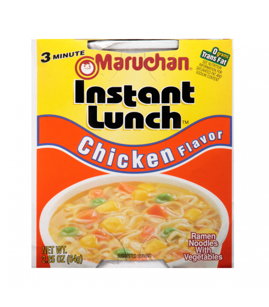 Maruchan Instant Lunch Chicken Flavour Ramen Noodles 2.75oz (64g) Cup Food and Groceries Maruchan