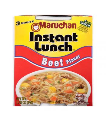 Maruchan Instant Lunch Beef Flavour Ramen Noodles 2.75oz (64g) Cup Pasta & Noodles Maruchan