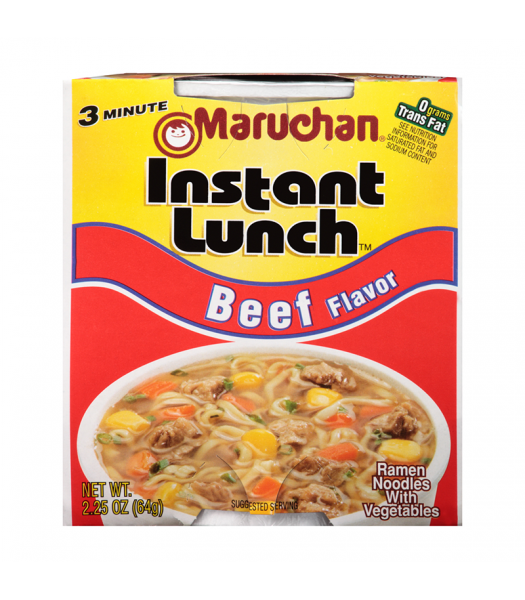 Maruchan Instant Lunch Beef Flavour Ramen Noodles 2.75oz (64g) Cup