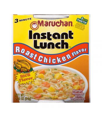 Maruchan Instant Lunch Roast Chicken Flavour Ramen Noodles 2.75oz (64g) Cup Pasta & Noodles Maruchan