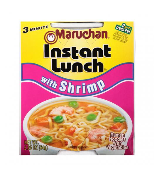 Maruchan Instant Lunch Shrimp Flavour Ramen Noodles 2.75oz (64g) Cup Pasta & Noodles Maruchan