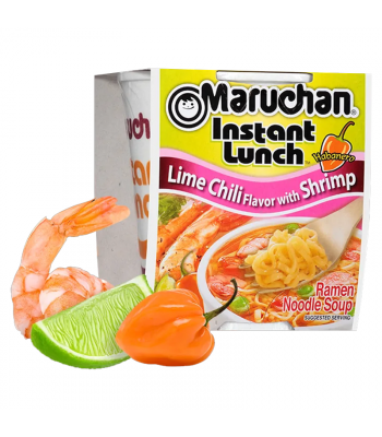 Clearance Special - Maruchan - Lime Chili Flavour with Shrimp Instant Lunch Ramen Noodles - 2.25oz (64g) **Best Before: 14 May 19**