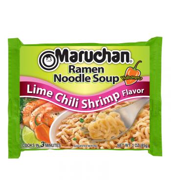 Maruchan - Lime Chili Shrimp Flavor Ramen Noodles - 3oz (85g) Pasta & Noodles Maruchan