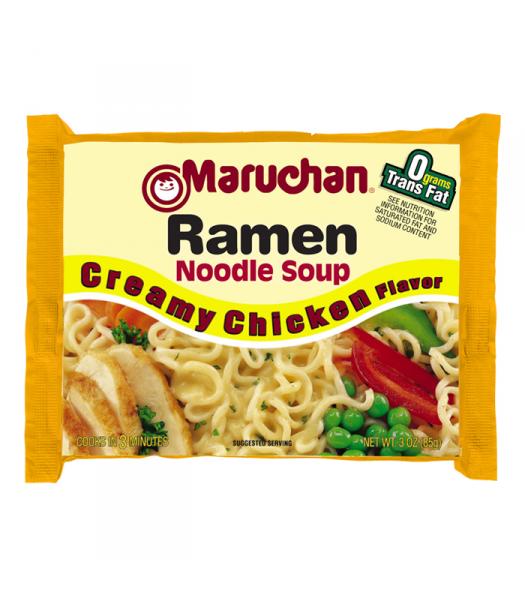 Maruchan - Creamy Chicken Flavor Ramen Noodles - 3oz (85g) Pasta & Noodles Maruchan