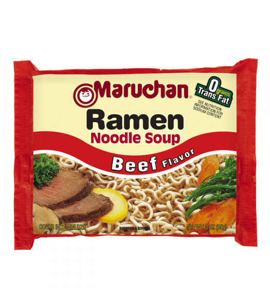 Maruchan Ramen Noodles - Beef Flavour - 3oz (85g) Pasta & Noodles Maruchan