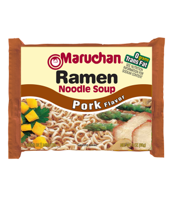 Maruchan - Pork Flavor Ramen Noodles - 3oz (85g) Food and Groceries Maruchan