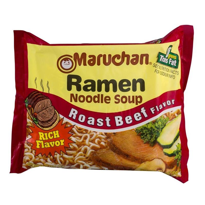Maruchan - Roast Beef Flavor Ramen Noodles - 3oz (85g ...