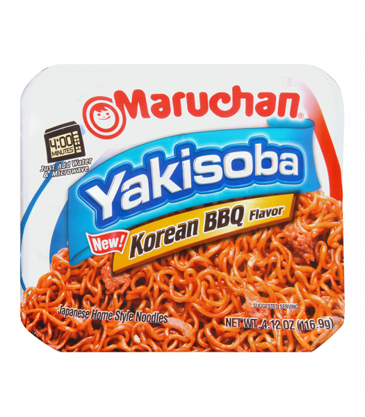 Maruchan Korean BBQ Yakisoba Noodles 4.12oz (116.9g) Food and Groceries Maruchan