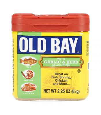 Old Bay Garlic & Herb Seasoning - 2.25oz (63g) Food and Groceries Old Bay