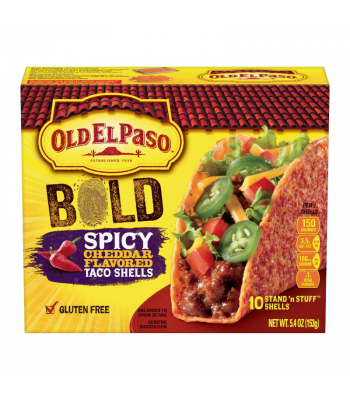 Old El Paso Bold Spicy Cheddar Flavoured Stand 'n Stuff Taco Shells - 5.4oz (153g) Food and Groceries Old El Paso