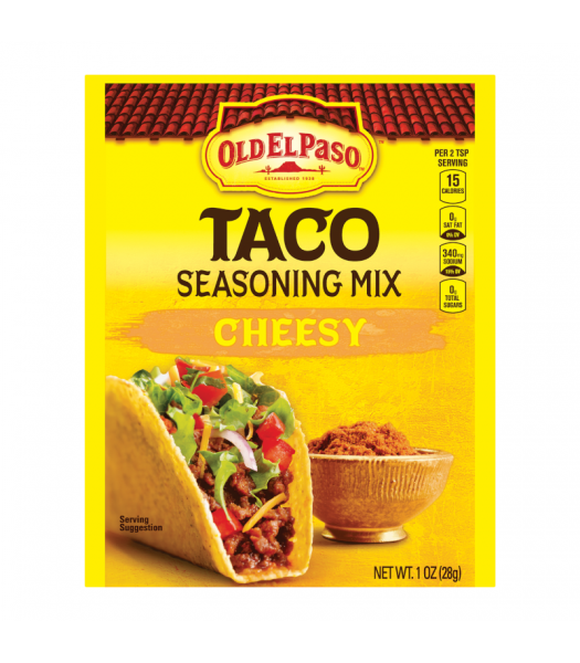 Old El Paso Cheesy Taco Seasoning - 1oz (28g) Food and Groceries