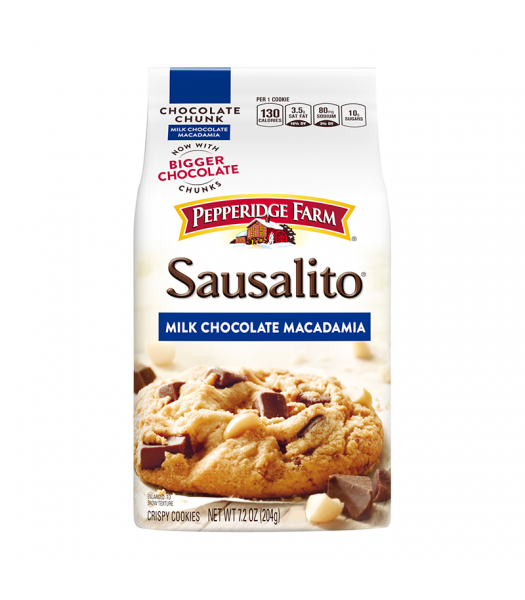 Pepperidge Farm Sausalito Milk Chocolate Chunk Macadamia Cookies 7.2oz (204g) Cookies and Cakes Pepperidge Farm