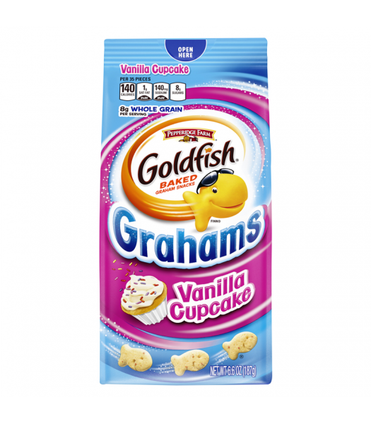 Pepperidge Farm Goldfish Grahams Vanilla Cupcake Flavour - 6.6oz (187g) Snacks and Chips Pepperidge Farm