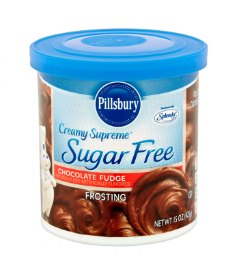 Pillsbury Creamy Supreme Sugar Free Chocolate Fudge Frosting 15oz (425g)