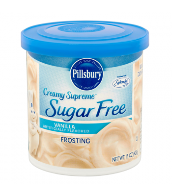Pillsbury Creamy Supreme Sugar Free Vanilla Frosting 15oz (425g) Food and Groceries Pillsbury