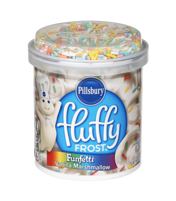 Pillsbury Fluffy Frost Funfetti Vanilla Marshmallow - 12oz (340g) Food and Groceries Pillsbury
