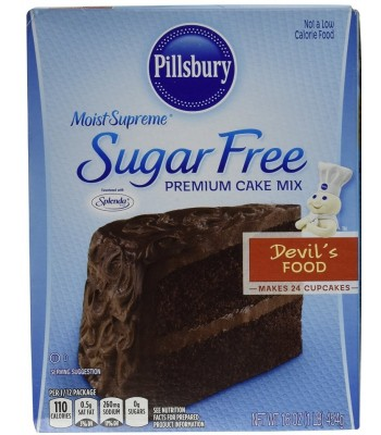 Pillsbury Sugar Free Moist Supreme Devil's Food Cake Mix 16oz (454g) Baking & Cooking Pillsbury