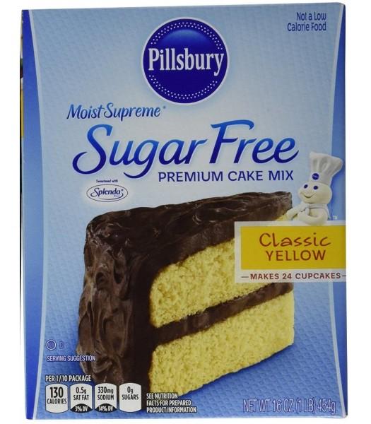 Pillsbury Sugar Free Moist Supreme Yellow Cake Mix 16oz (454g) Food and Groceries Pillsbury