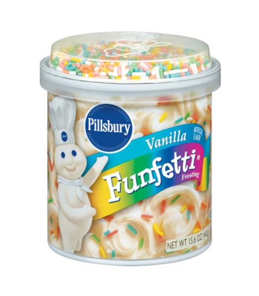 Pillsbury Vanilla Funfetti Frosting 15.6oz (442g)  Baking & Cooking Pillsbury