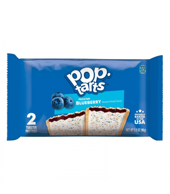 Pop Tarts - Frosted Blueberry - Twin Pack - 3.3oz (96g) Cookies and Cakes Pop Tarts