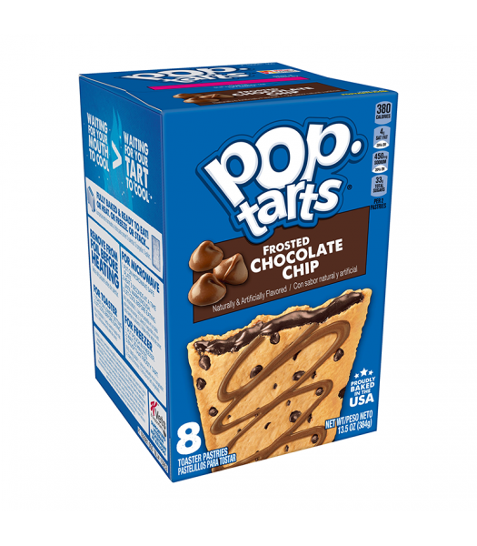 Pop Tarts Frosted Chocolate Chip 8-Pack - 13.5oz (384g) Cookies and Cakes Pop Tarts