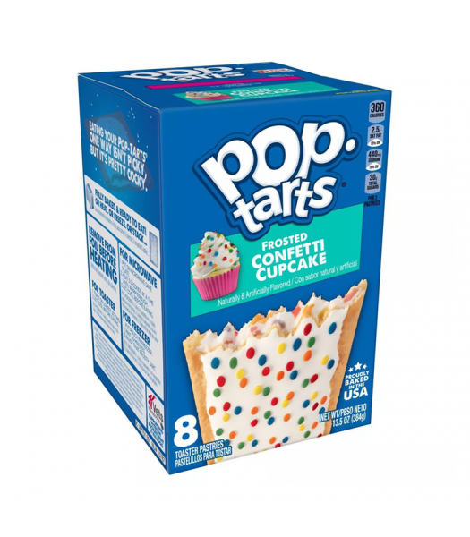 Pop Tarts Frosted Confetti Cupcake 8-Pack 13.5oz (384g) Cookies and Cakes Pop Tarts