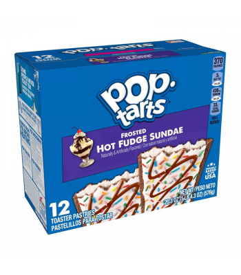 Pop Tarts - Frosted Hot Fudge Sundae 12-Pack (6 x 2 Toaster Pastries) - 20.3oz (576g) Cookies and Cakes Pop Tarts