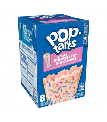 Pop Tarts Frosted Strawberry Milkshake 8-Pack - 13.5oz (384g) Cookies and Cakes Pop Tarts