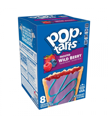 Pop Tarts Frosted Wild Berry 8-Pack - 13.5oz (384g) Cookies and Cakes Pop Tarts